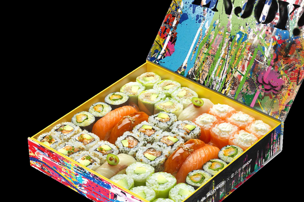 Mr Brainwash imagine la nouvelle Box de Sushi Shop