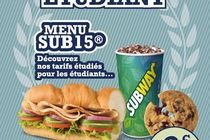 Subway lance le menu étudiant à prix malin