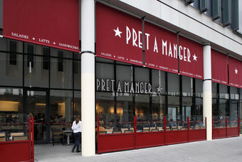 pret a manger inaugure son 3 me restaurant paris. Black Bedroom Furniture Sets. Home Design Ideas